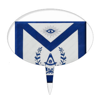 Past Masters Apron F&AM Cake Topper