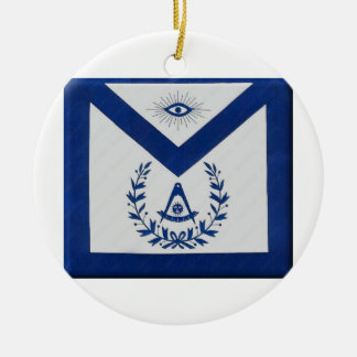 Past Masters Apron F&AM Ceramic Ornament