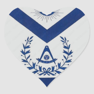 Past Masters Apron F&AM Heart Sticker