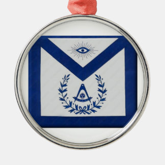 Past Masters Apron F&AM Metal Ornament