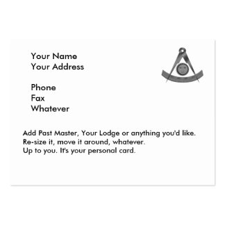 Past Masters Card Business Cards