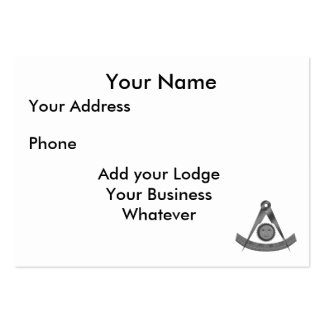Past Masters Card Large Business Card