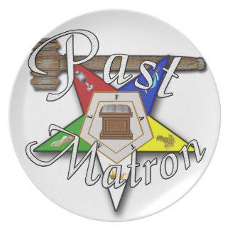 Past Matron Appreciation Party Plates