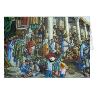 Past, present and future in Jerusalem, Holy City Card