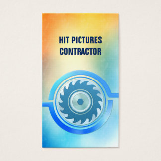 Past Present Contractor Construction Home Repair Business Card