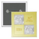 Past & Present Photo Golden Anniversary Pins