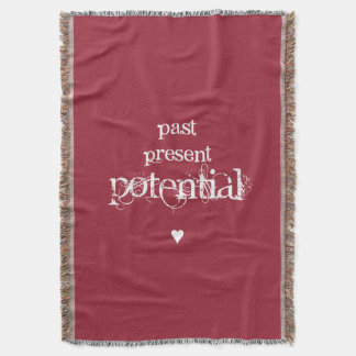 """""""Past, Present, Potential"""" Woven Throw Blanket"""
