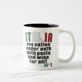 PASTA AND WINE FOR ALL GIOVANNI PAOLO Two-Tone COFFEE MUG