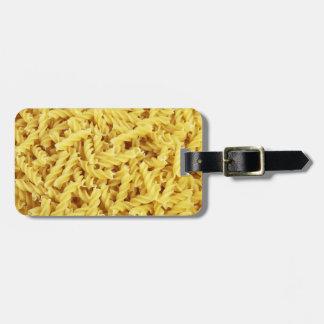 Pasta Background Luggage Tag