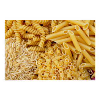 pasta background poster