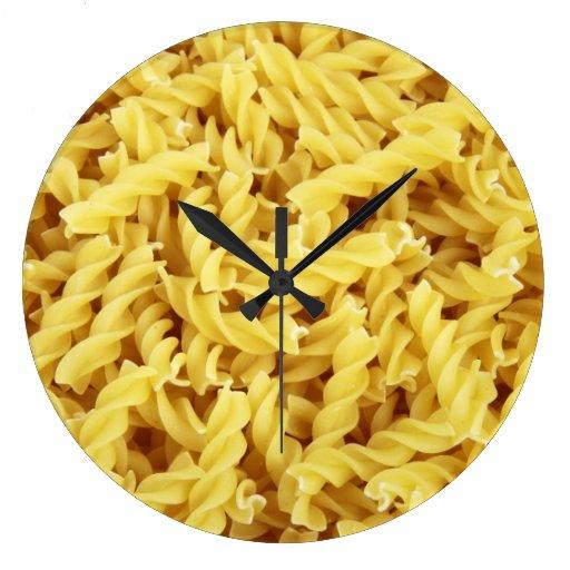 Pasta Background Wallclock