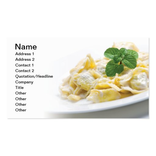 Pasta Double-Sided Standard Business Cards (Pack Of 100)