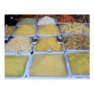 Pasta, Cereal, Basket, Italian Food, Market Postcard