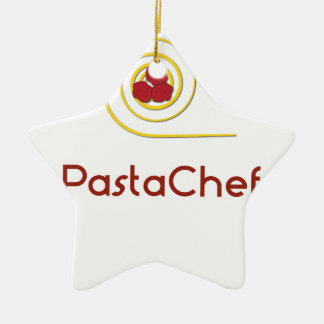 Pasta Chef Ceramic Ornament