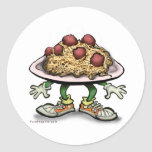 Pasta Classic Round Sticker