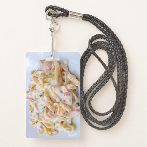 Pasta Custom Food Photo Badge