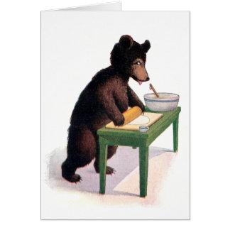 Pasta de Rolls del oso de peluche para las galleta Tarjeta De Felicitación