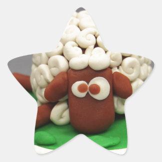 Pasta del juego mis ovejas pegatina en forma de estrella