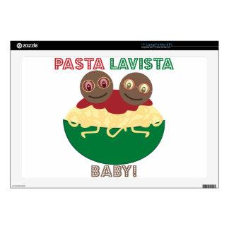 "Pasta Lavista, Baby 17"" Laptop Decals"