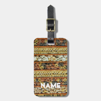pasta noodles photograph luggage tag