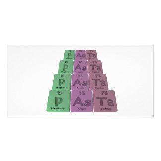 Pasta-P-As-Ta-Phosphorus-Arsenic-Tantalum.png Photo Greeting Card