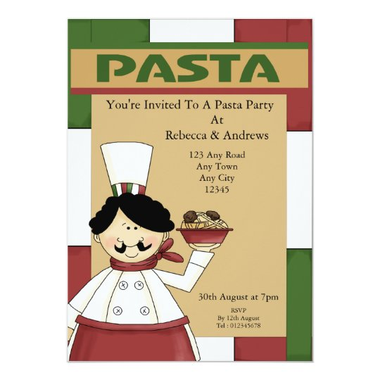 Pasta Party Card