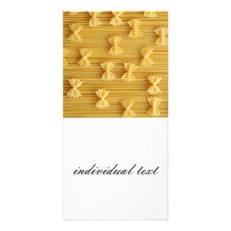 pasta photo card template