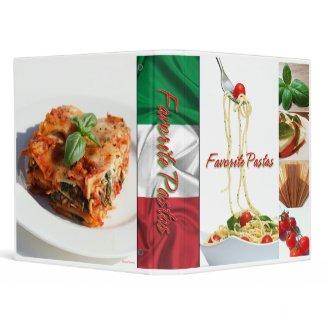 Pasta Recipe binder binder