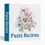 Pasta Recipes Binder 3 Ring Binders