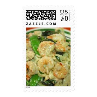 Pasta Shrimp Peapods Postage
