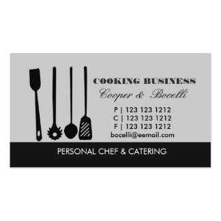 Pasta Spatula N Utensils Business Card