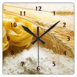 Pasta Square Wall Clock