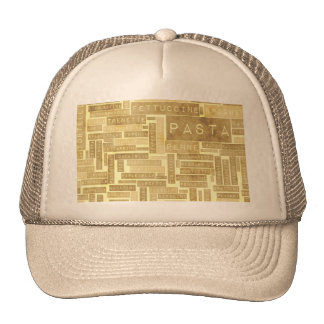 Pasta Types and Assorted Variety of Pastas Trucker Hat