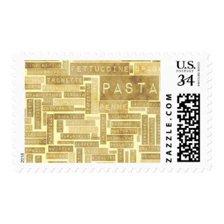 Pasta Types and Assorted Variety of Pastas Postage