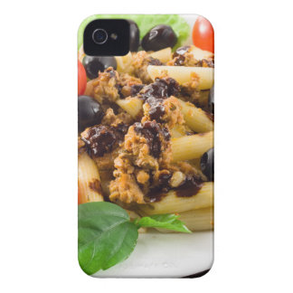 Pasta with bolognese sauce, beef meat, olives Case-Mate iPhone 4 case