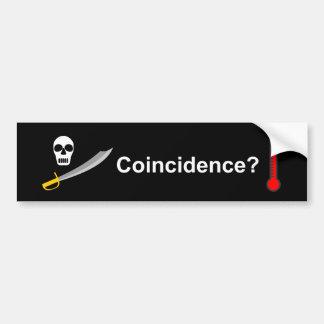 Pastafarianism - Coincidence? Bumper Sticker