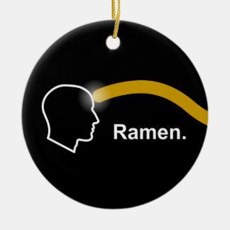 Pastafarianism - ornamento de los Ramen Adorno Navideño Redondo De Cerámica