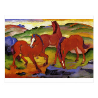 Pastando caballos IV (los caballos rojos) por Postales