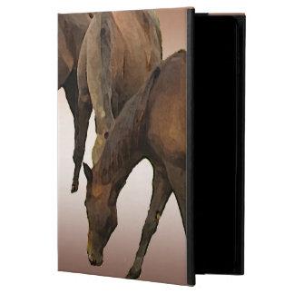 Pastando el iPad de Powis de los caballos ventile