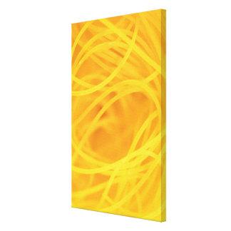 Pastas amarillas del pelo del ángel impresiones en lienzo estiradas