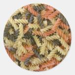 Pastas coloreadas pegatina redonda