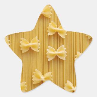 Pastas de Bowtie Pegatina En Forma De Estrella