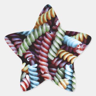 Pastas de la diversión pegatina en forma de estrella
