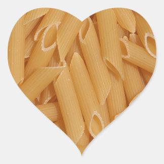Pastas de Penne Pegatina En Forma De Corazón