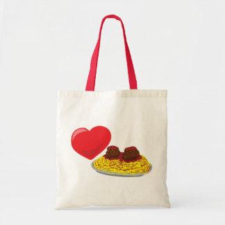 ¡Pastas del amor!  Personalizable: Bolsa De Mano