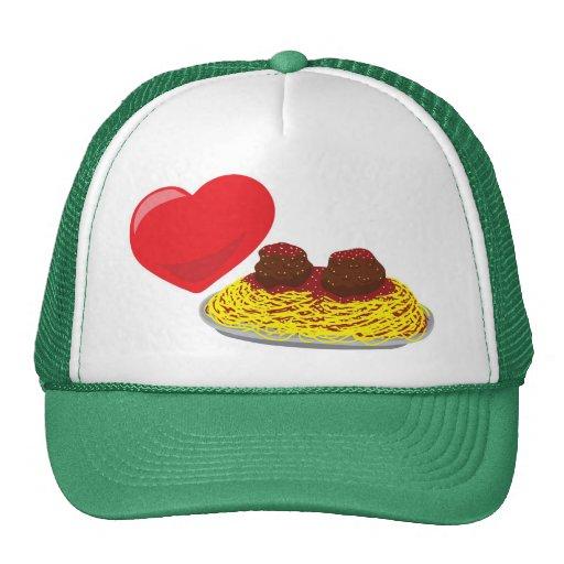 ¡Pastas del amor!  Personalizable: Gorras De Camionero