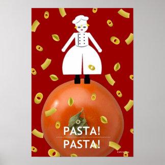 """¡Pastas del rojo de Martzkin de la cocina """"! Pasta Poster"""