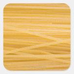 Pastas del trigo integral pegatina cuadradas personalizadas