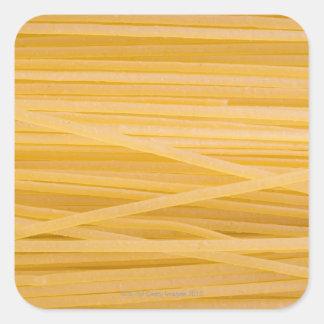 Pastas del trigo integral pegatina cuadrada