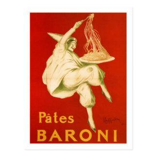 Pastas famosas del italiano de Leonetto Cappiello Postal